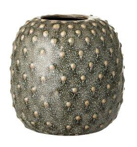Bloomingville - Vase Grøn, Stentøj