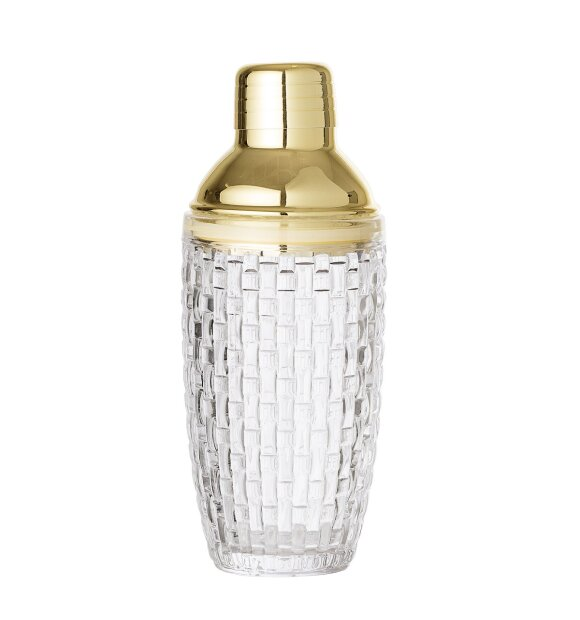 Bloomingville - Cocktail Shaker, klar/guld