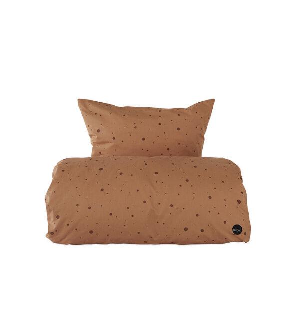 OYOY Living Design - Sengesæt Dot Caramel, 140x200