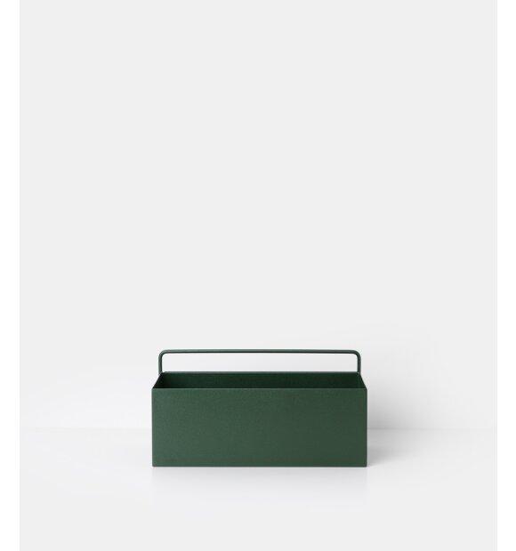 ferm LIVING - Wall Box, Rectangle mørkegrøn