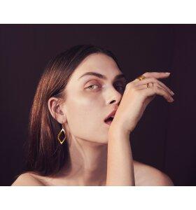 Louise Kragh Smykker - Ring 0402 Leaf, sølv eller forgyldt
