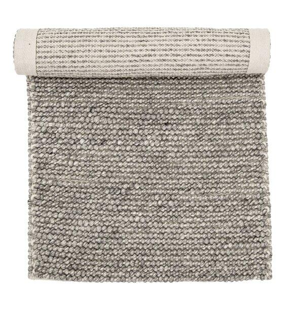 Bloomingville - Tæppe grå, Uld