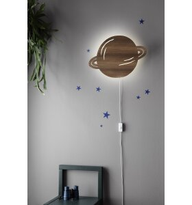 ferm LIVING Kids - Planet Lamp - Smoked Oak
