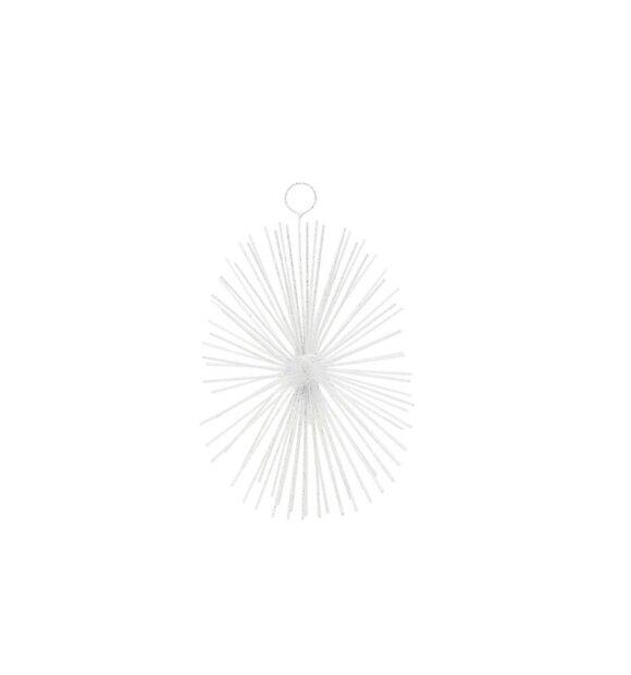 House-Doctor - Ornament Dary, Hvid/Sølv