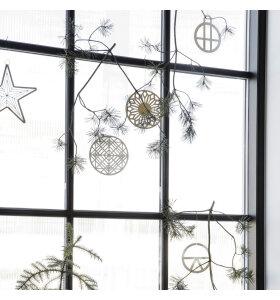 House-Doctor - Ornament Genna, Hvid/Sølv