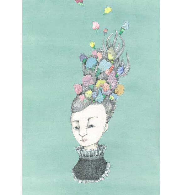 Kirstine Falk - Flower Head, A3