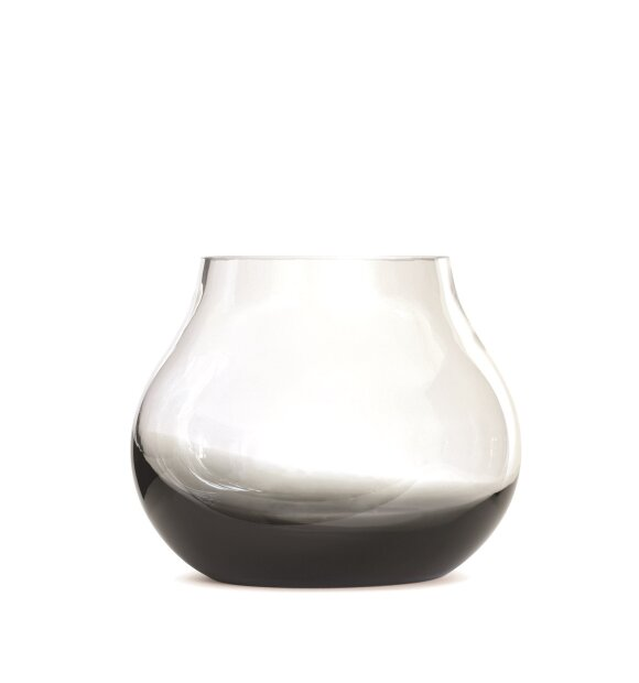 Ro Collection - Flower vase no.23, Smoked grey