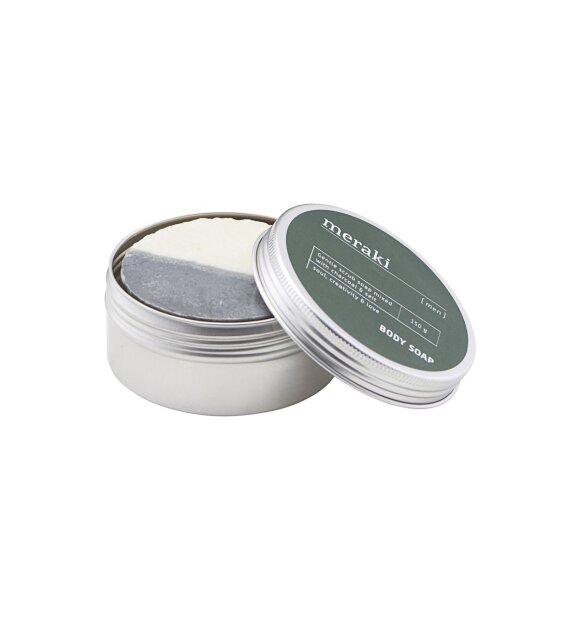 meraki - Body Soap Men, Trækul og salt