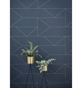 ferm LIVING - Hexagon potte messing S