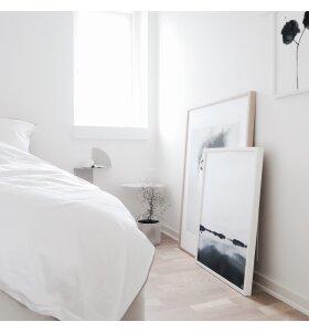 SEMIBASIC - Sengesæt, hvid/grå, 140x200