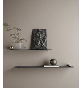 ferm LIVING - Flying shelf  Svævehylde m. knop i krom