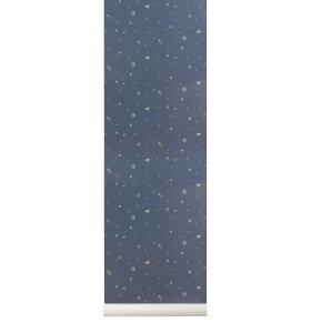 ferm LIVING Kids - Moon tapet, Mørkeblå