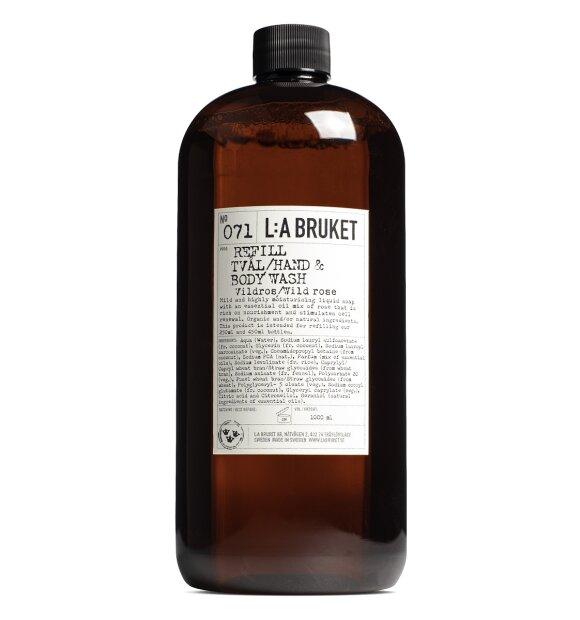 L:A Bruket - Refill sæbe no 071, Vildrose 1l.