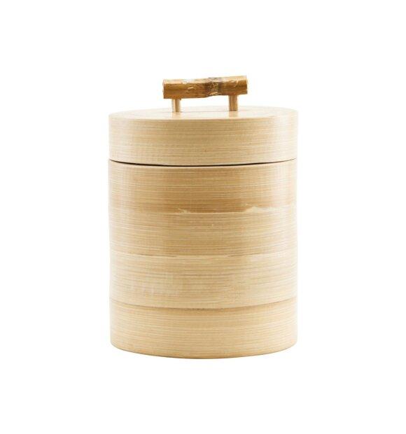 House Doctor - Bamboo lågkrukke, Medium