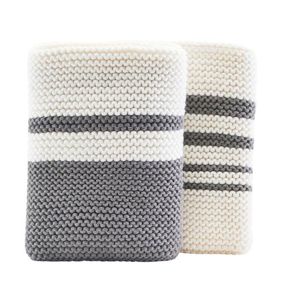 meraki - Pure karklude, hvid/grå