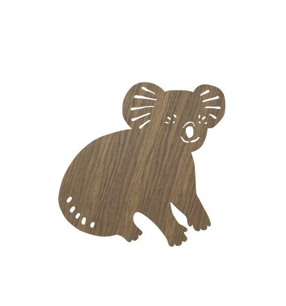 ferm LIVING Kids - Koala Lamp, Smoked Oak