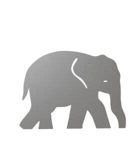 ferm LIVING Kids - Elephant Lamp, Warm Grey