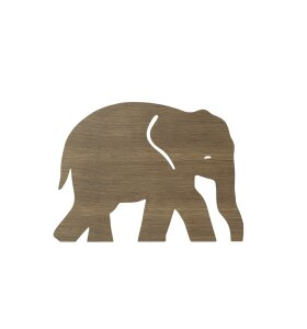 ferm LIVING Kids - Elephant Lamp, Smoked Oak