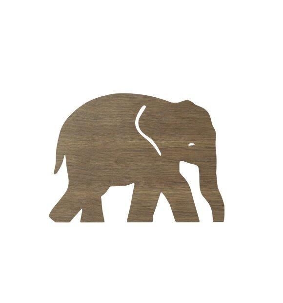 ferm LIVING Kids - Elephant Lamp, Smoked Oak