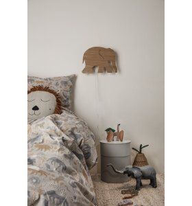 ferm LIVING Kids - Elephant Lamp, Oiled Oak