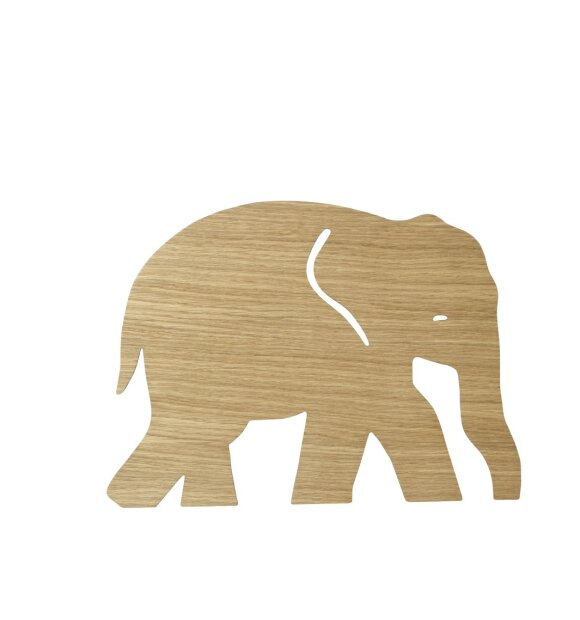 ferm LIVING Kids - Elephant Lamp, Oiled Oak