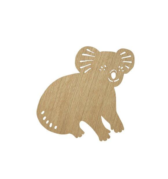 ferm LIVING Kids - Koala Lamp, Oiled Oak