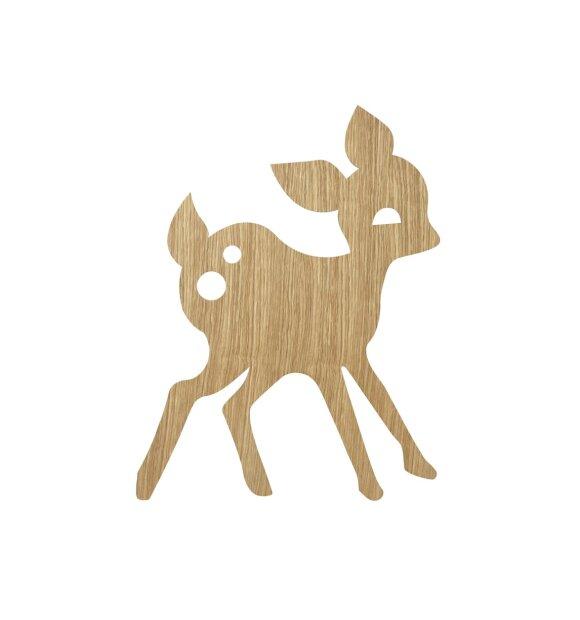 ferm LIVING Kids - My Deer Lamp, Oiled Oak