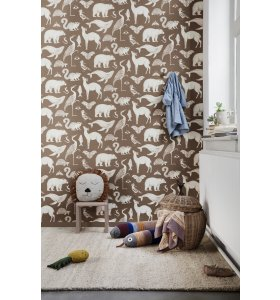 ferm LIVING Kids - Tapet Katie Scott, Animal Karamel