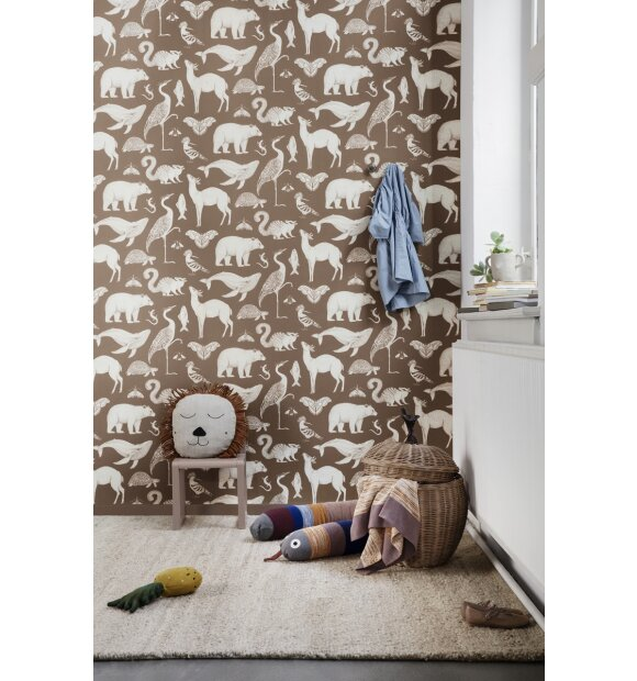 ferm LIVING Kids - Tapet Katie Scott, Animal Karamel