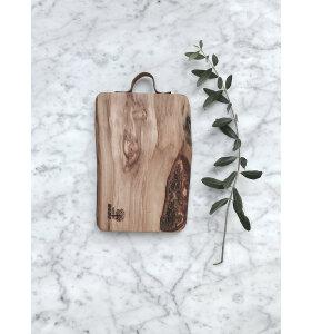Made by Mama - Skærebræt oliventræ, M