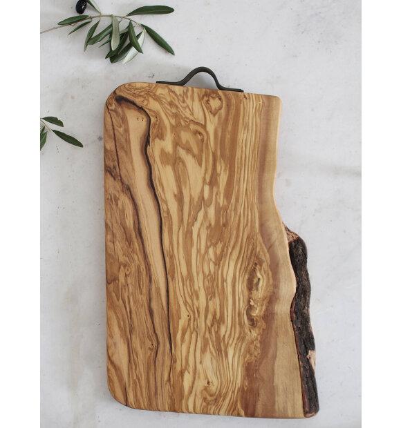Made by Mama - Skærebræt oliventræ, L