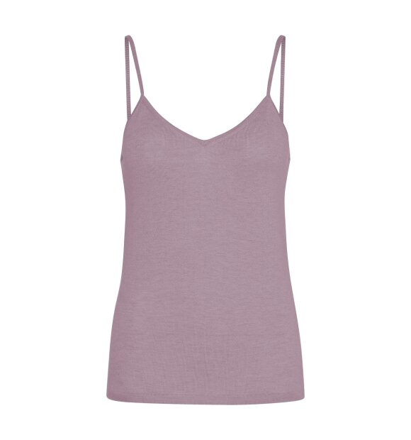 Care By Me - Mynte top, Dusty Rose, silke,uld,cashmere