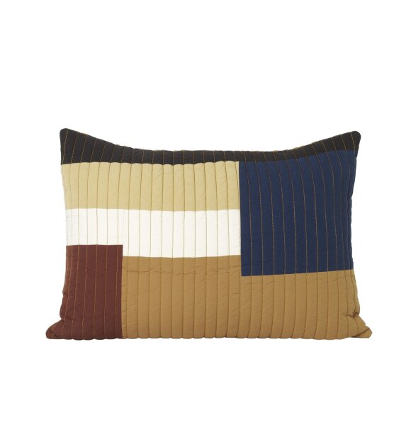 ferm LIVING - Shay Quilt pude, Mustard 40x60