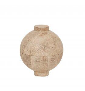 Kristina Dam - Wooden Sphere, lågkrukke XL