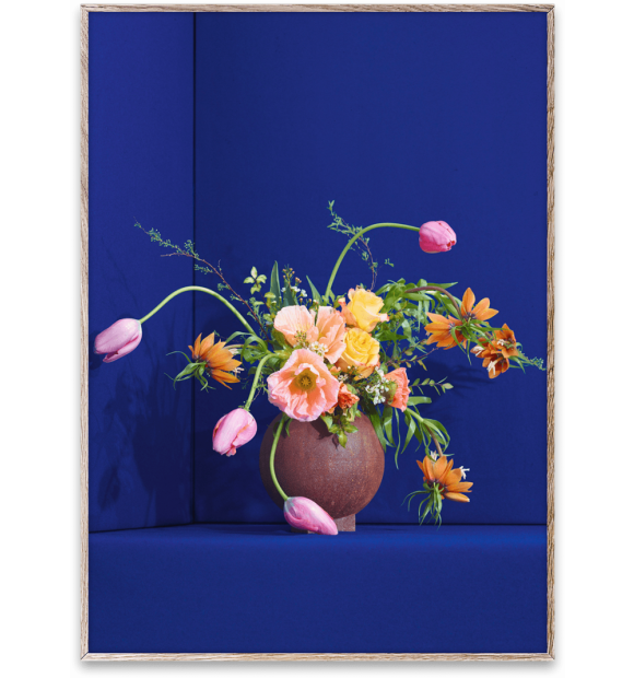 Paper Collective - Blomst 01 Blue 30x40