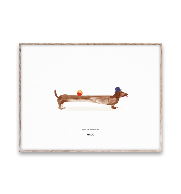 Paper Collective - Doug the Dachshund 30x40