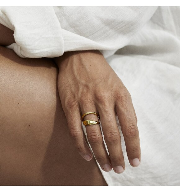 Trine Tuxen - Loop Ring Forgyldt