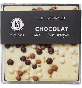 Lie Gourmet - Hvid chokoladebar med knas