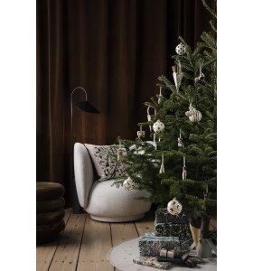 ferm LIVING - Håndmalede julekugler, Grøn