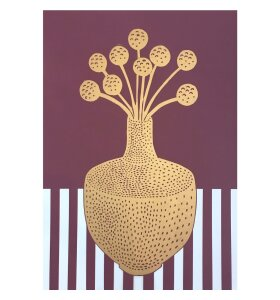 Monika Petersen Art Print - Cut Craspedia Plum, A3