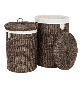 dixie - Vasketøjskurve Vandhyacint, Brun 2 stk.