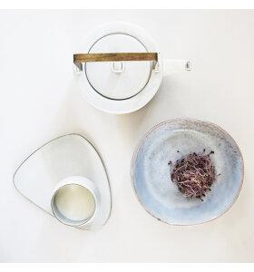 HK living - Hvid tepotte, Kyoto keramik