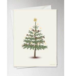 Vissevasse - The Christmas Tree, Julekort med konvolut