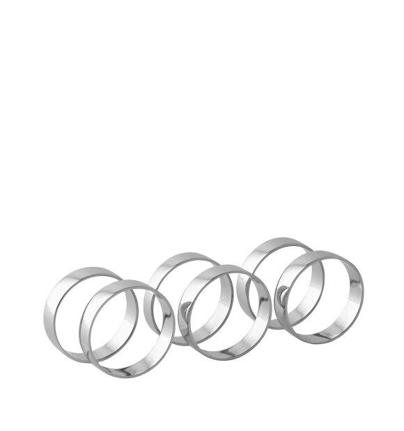 Broste Copenhagen - Ring Iron, 6 servietringe