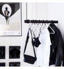 LindDNA - Wall swing sort læder/træ