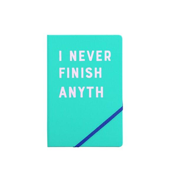 Ridleys - Notesbog, I never finish anyth