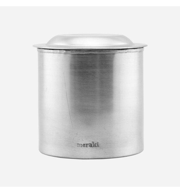 meraki - Krukke med låg sølvfinish, Stor