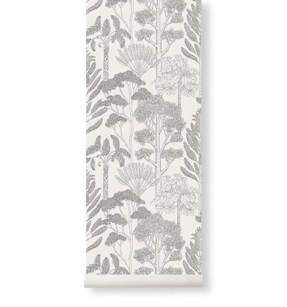 ferm LIVING - Tapet Katie Scott, Trees Off White