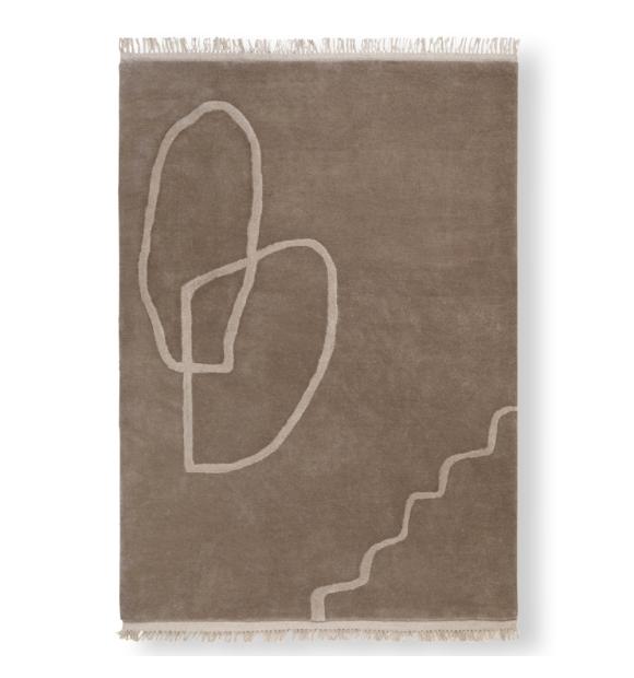 ferm LIVING - Desert Tufted Rug, Sand - Hent selv