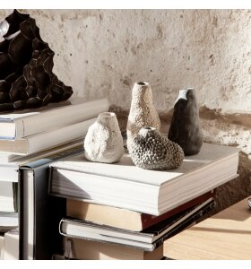 ferm LIVING - Vulca Minivase, Off-white stone